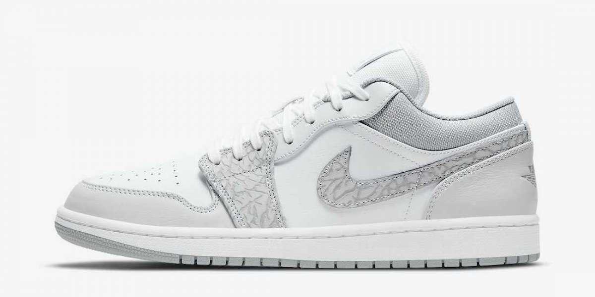 "Most Popular Air Jordan 1 Low PRM ""Elephant Print"" Shoes"