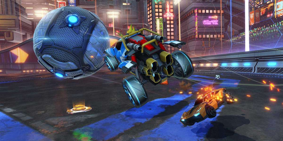 Rocket League Items their rocket vehicles around an encased field to score